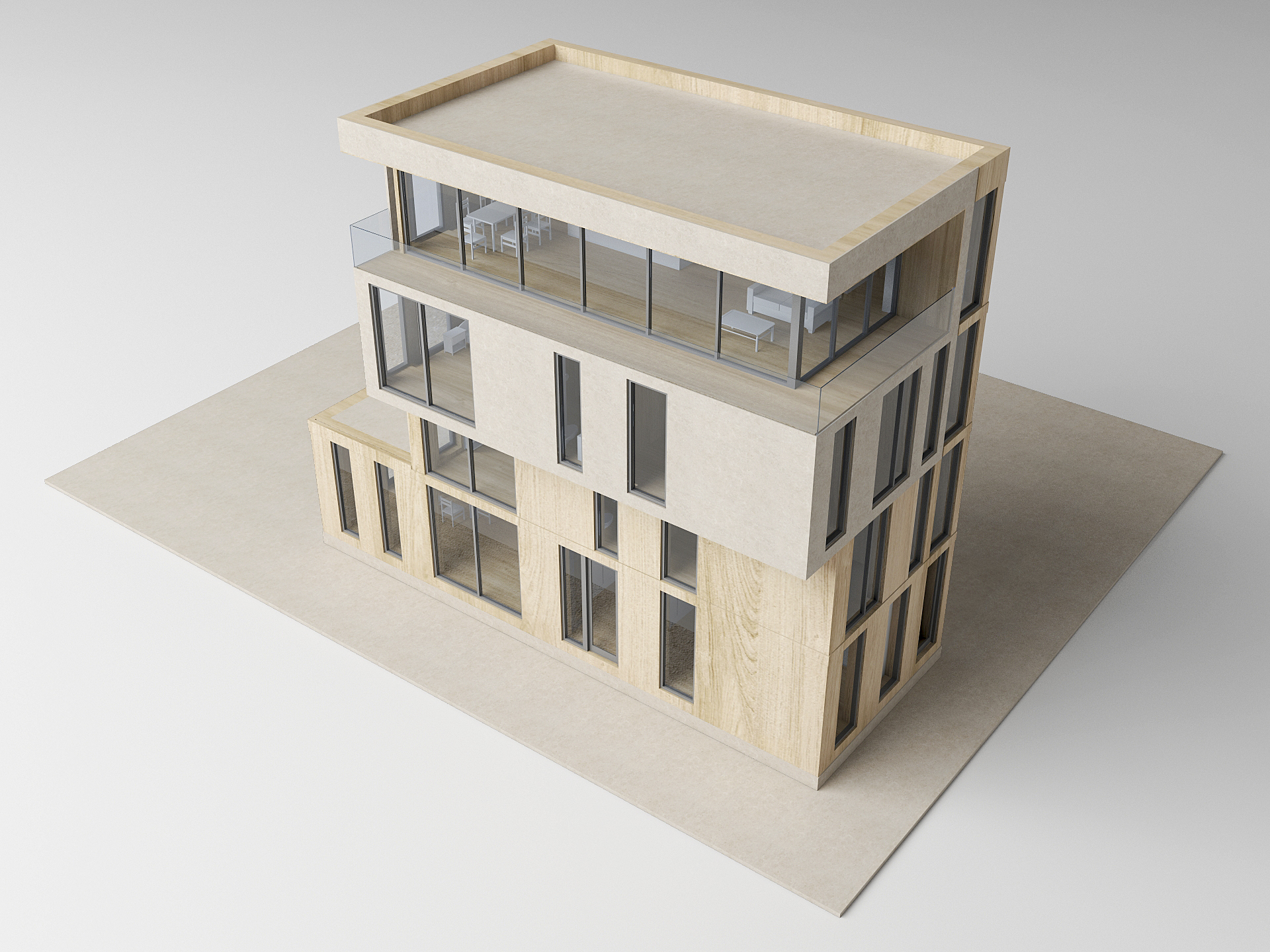 Maquette zelfbouwwoning Amsterdam
