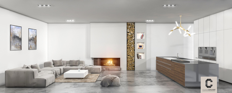 Moderne eigentijdse Penthouse